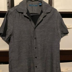 Perry Ellis Brand Dark Grey Button Up Men's Shirt